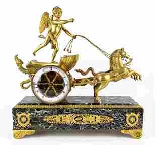 Magnificent 19th C. Bronze & Marble Clock