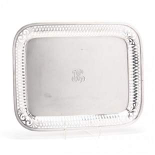 A 925 Sterling Silver Tea Tray