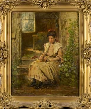 Hugh Newell (1830-1915) Oil on Canvas, 19th C.