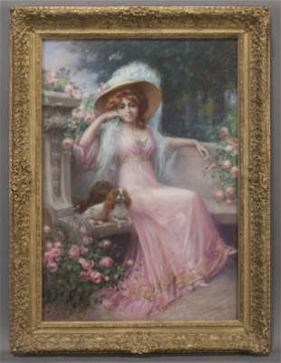 """Delphin Enjolras (1857–1945) """"An Elegant Lady with her"""