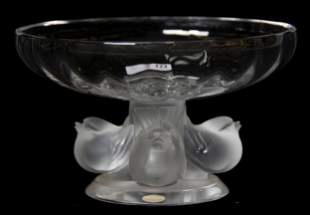 Lalique Crystal Figural Compote