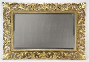 19th C Italian Rococo Giltwood Mirror