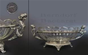 19th C. Figural Silver Plated Baccarat Crystal