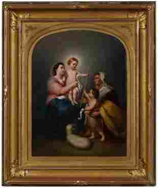 A Large 19th C. KPM / Royal Vienna Porcelain Plaque