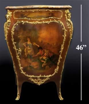 19th C. Sormani French Figural Bronze Cabinet