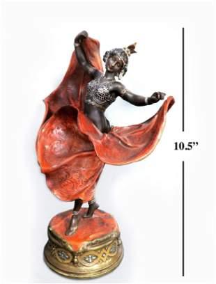 19th C. Bergman Bronze Statue of Dancer