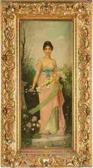 JOSEF SÜHS (1882-1961, Vienna) Oil on Canvas of Woman