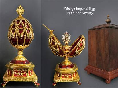 Faberge Imperial Jeweled Egg, 150th Anniversary