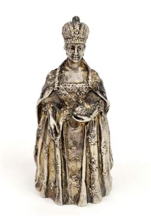Gorham Figural Silvered Bronze Bell