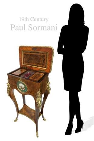 19th C Paul Sormani Sevres Side Table