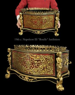 19th C. French Napoleon III Boulle and Gilt Bronze