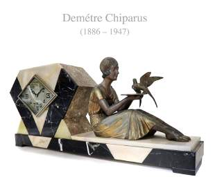 Chiparus, French Art Deco Clock C.1920s