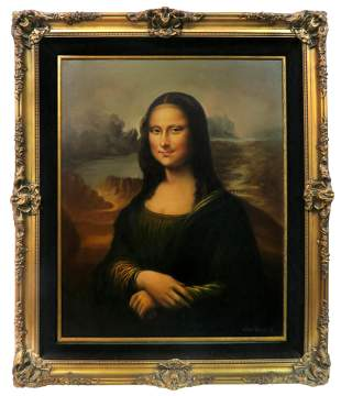 Chun Hwan after Leonardo da Vinci The Mona Lisa Circa