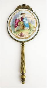 19th C. French Handpainted Enamel, Porcelain and Bronze