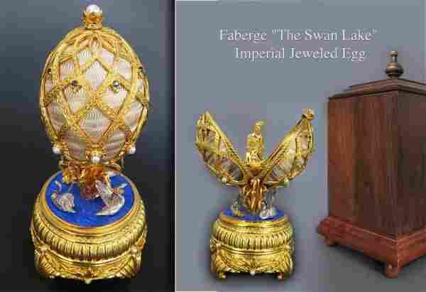 "Faberge ""The Swan Lake"" Imperial Jeweled Egg"