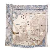 Hermes Le Voyage de Pytheas 90, 100% Silk