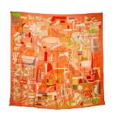 Hermes Modernisme Tropical 140, 100% Silk