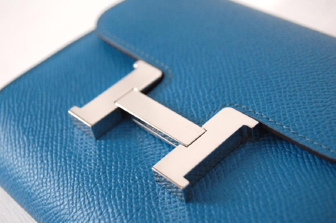 Hermes Blue Hydra Evercolor Leather Constance Compact - 2