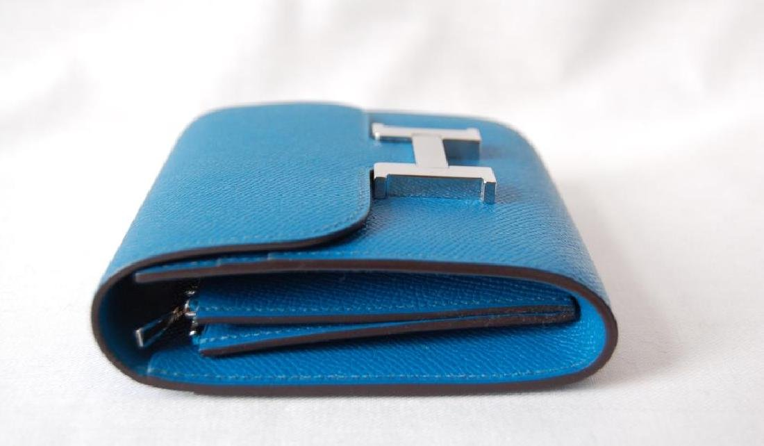 Hermes Blue Hydra Evercolor Leather Constance Compact - 4