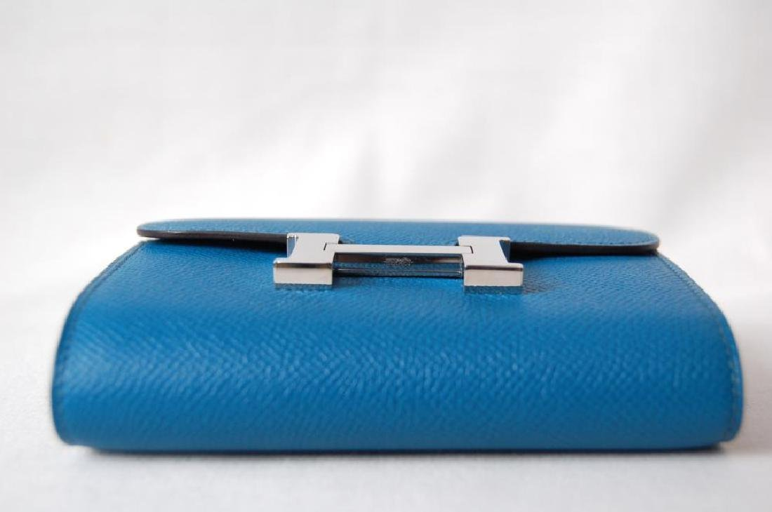 Hermes Blue Hydra Evercolor Leather Constance Compact - 5