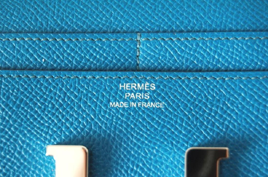 Hermes Blue Hydra Evercolor Leather Constance Compact - 6