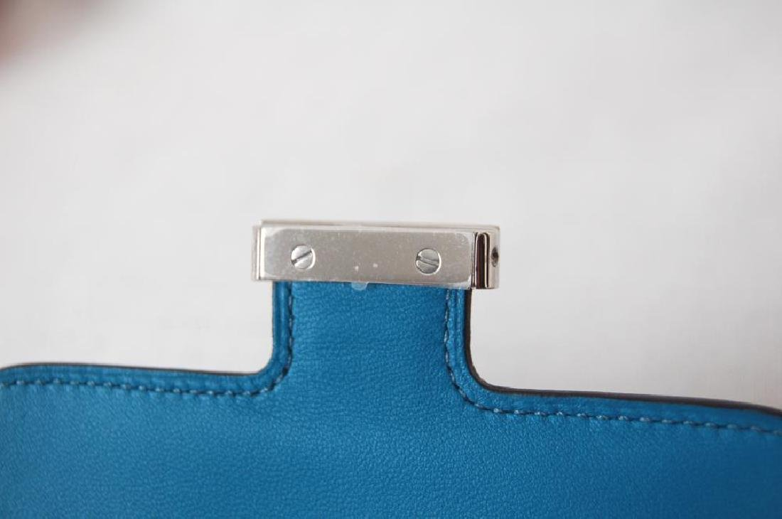 Hermes Blue Hydra Evercolor Leather Constance Compact - 9