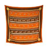 Hermes Sequences Silk Scarf