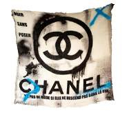 Chanel Cashmere Silk Graffiti Scarf