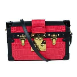 Louis Vuitton Crocodile Leather Pink Black Petite Malle
