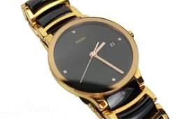 Rado Centrix Automatic Watch Gold Black Ceramic