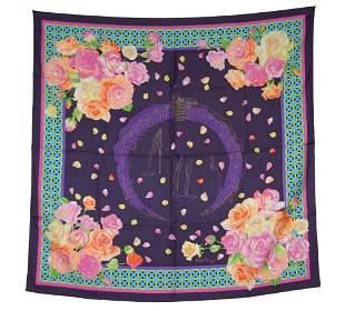 PATEK Silk Scarf Black Floral