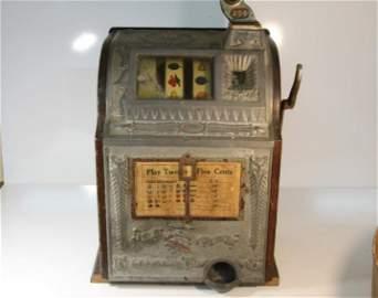 1924 Mills 25 Cent Owl Slot Machine