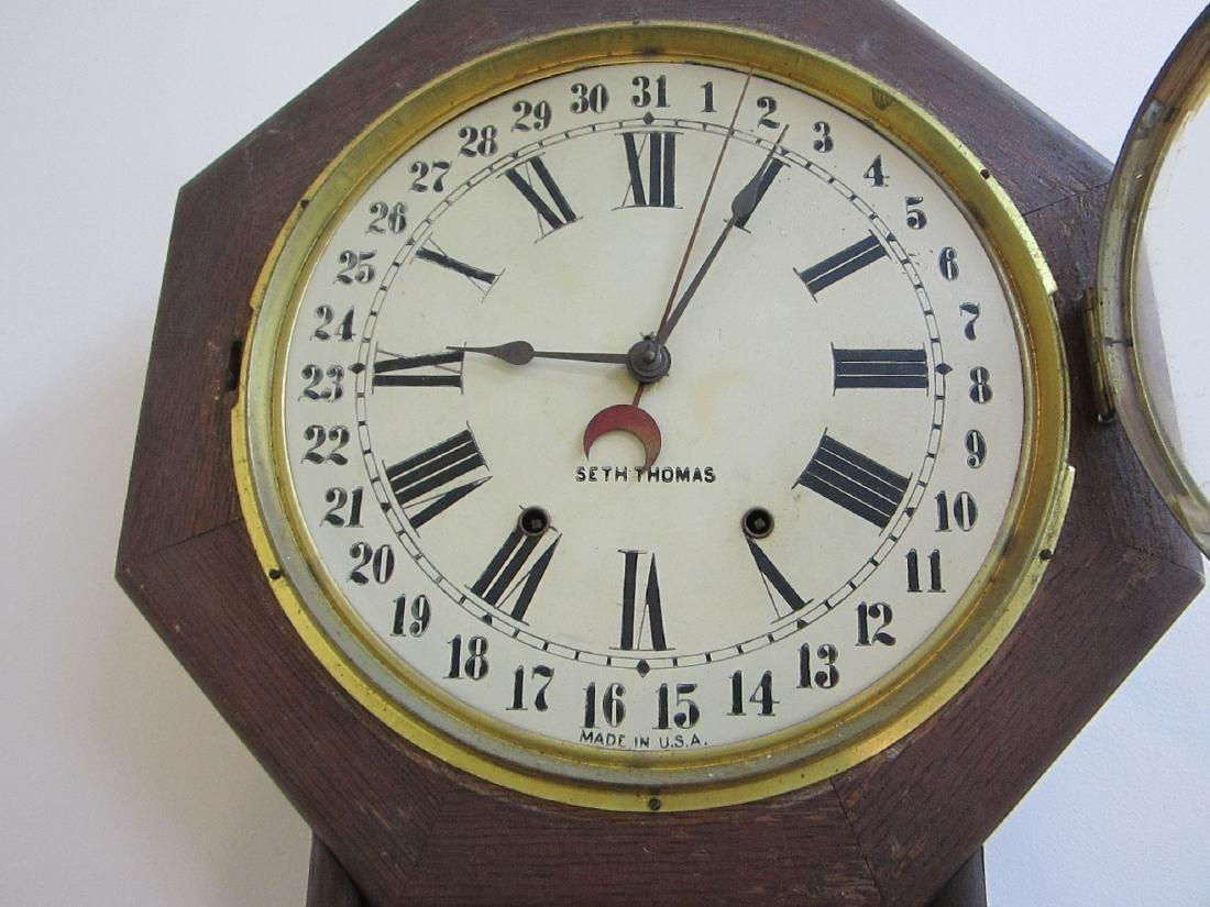 A nice Seth Thomas wall clock - 3