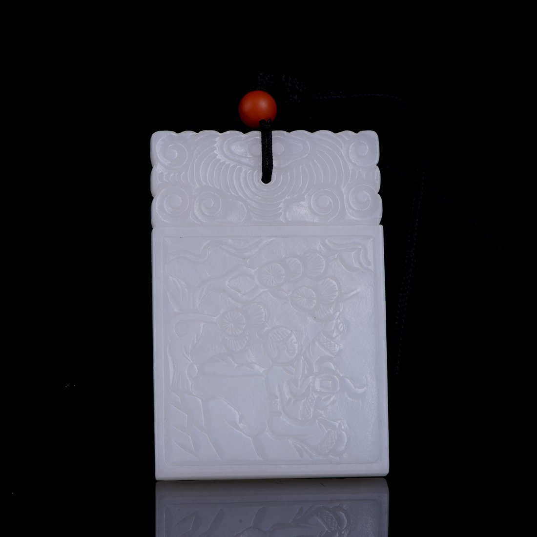 CHINESE STORY-TELLING HETIAN WHITE JADE PLAQUE