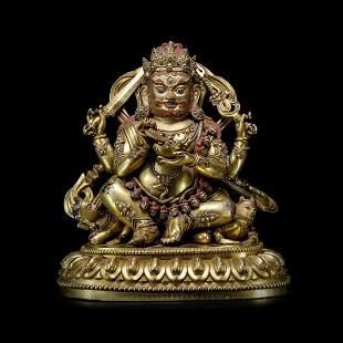 MING YONGLE GILT BRONZE BODHISATTVA BUDDHA