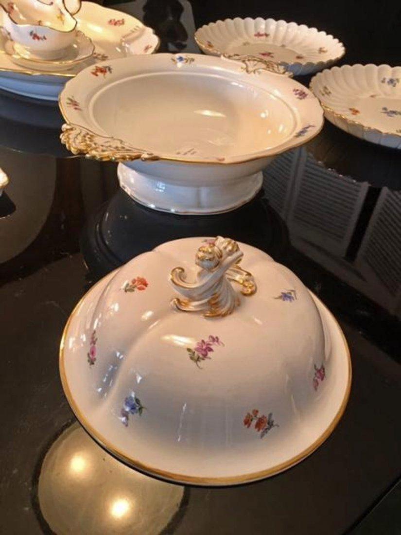 MEISSEN 7pc Lg Dinnerware Serving Set Tray Dish Tureen - 10