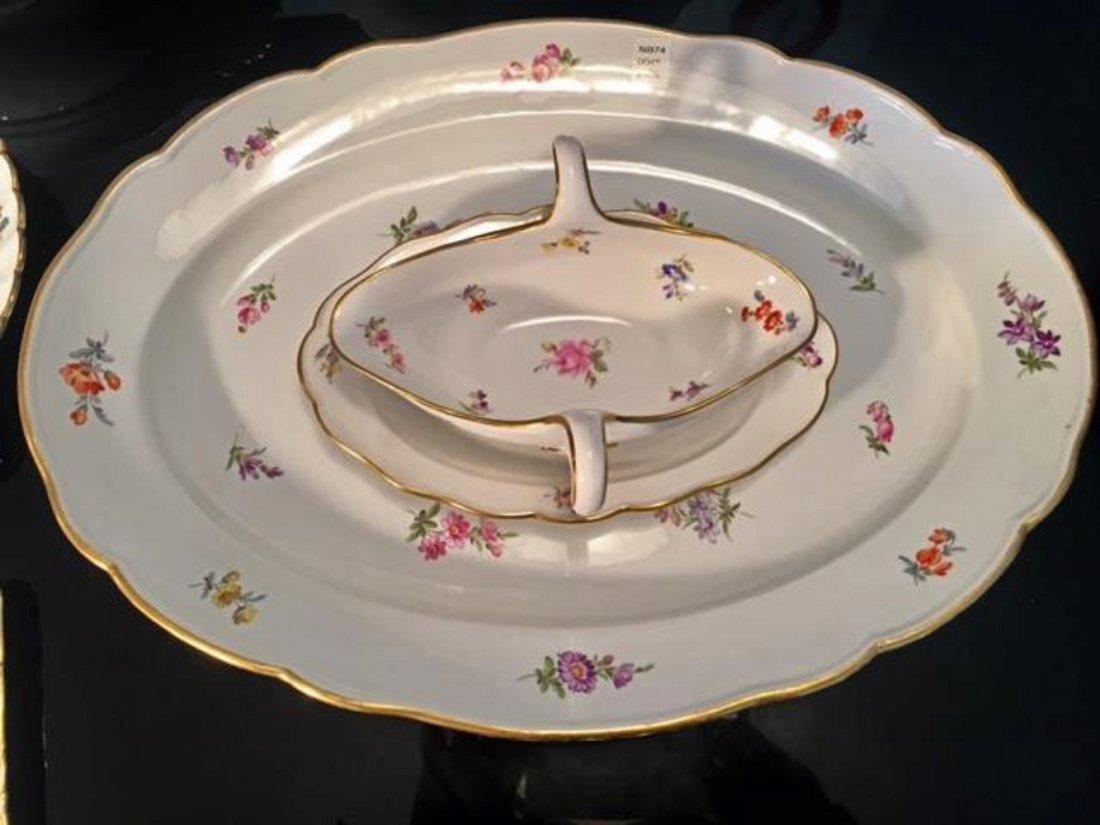 MEISSEN 7pc Lg Dinnerware Serving Set Tray Dish Tureen - 4