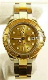 Rolex Yacht Master 169623 18k Gold Men's Watch
