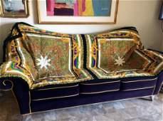 Versace Velvet KING Bed Sofa Cover 1980s Pre-death
