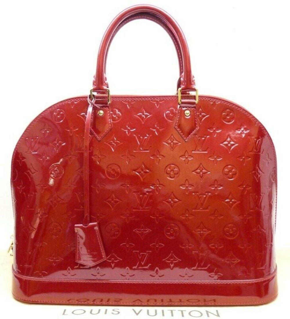 LOUIS VUITTON Alma GM Cherry Monogram Vernis Bag