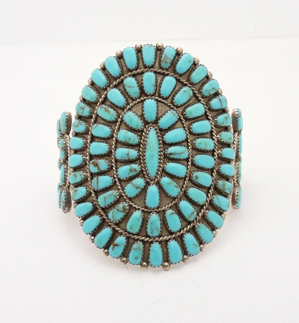 Navajo Handcrafted Sterling Silver & Turquoise Bracelet