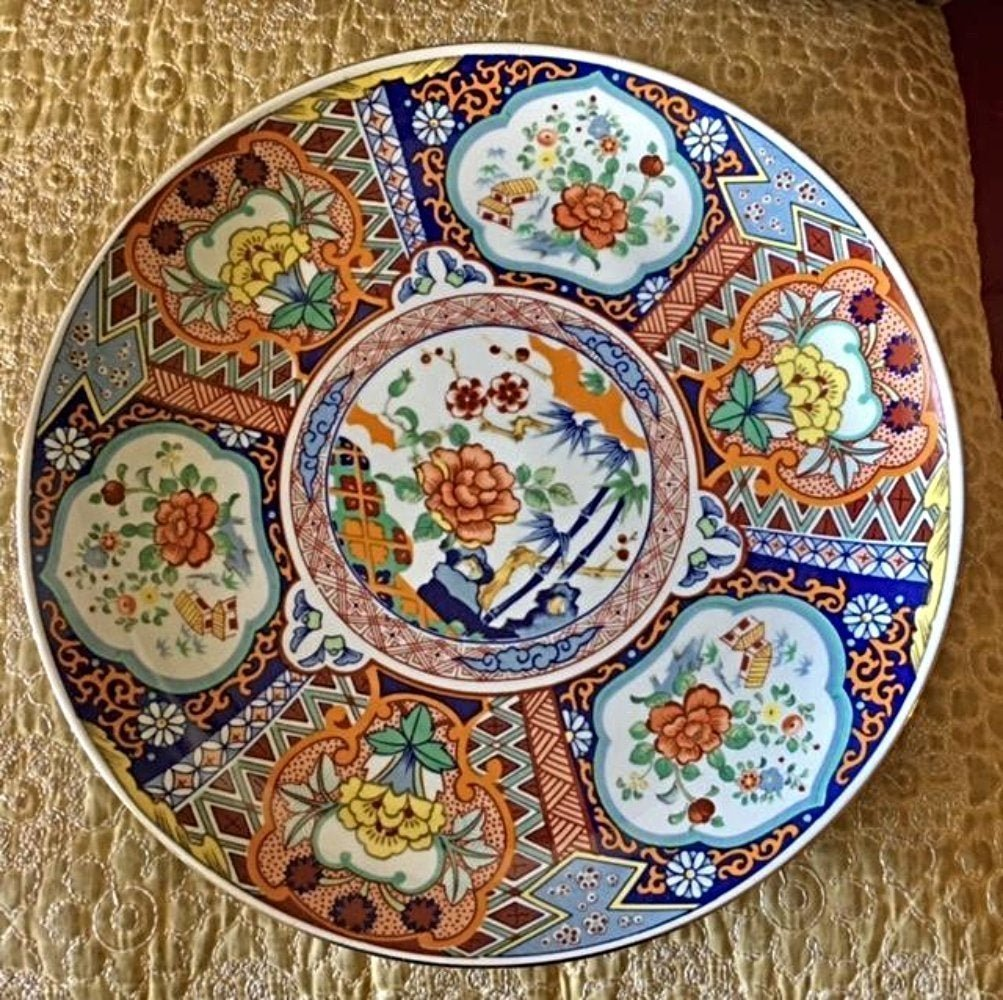 Japanese Imari Large Porcelain Charger Plate Bowl