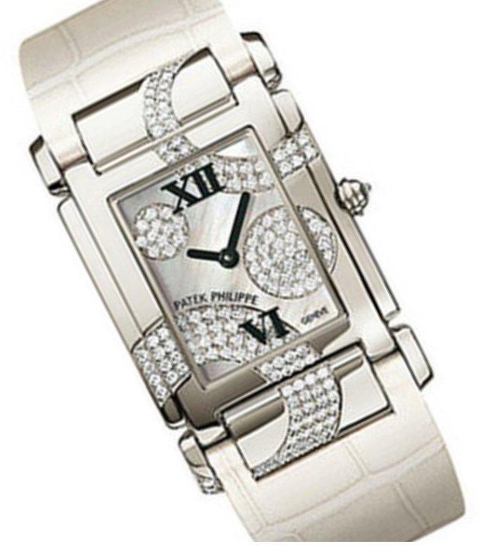 Patek Philippe Twenty-4 Ladies 18K Gold Diamonds Watch