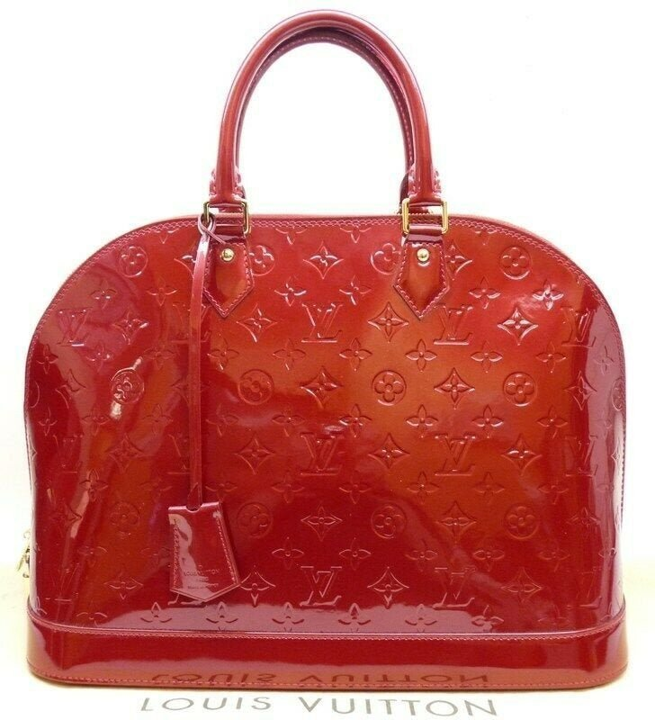 LOUIS VUITTON Alma GM Cherry Monogram Vernis Bag