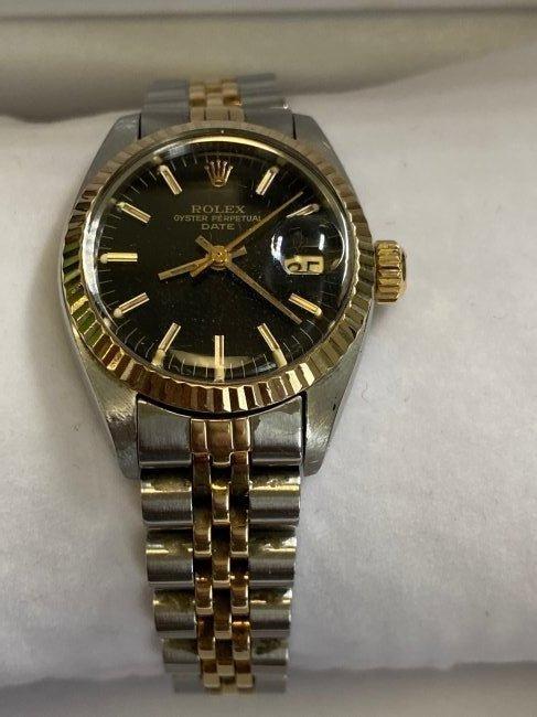 Rolex Oyster Perpetual Date 6917 Watch 2 tone