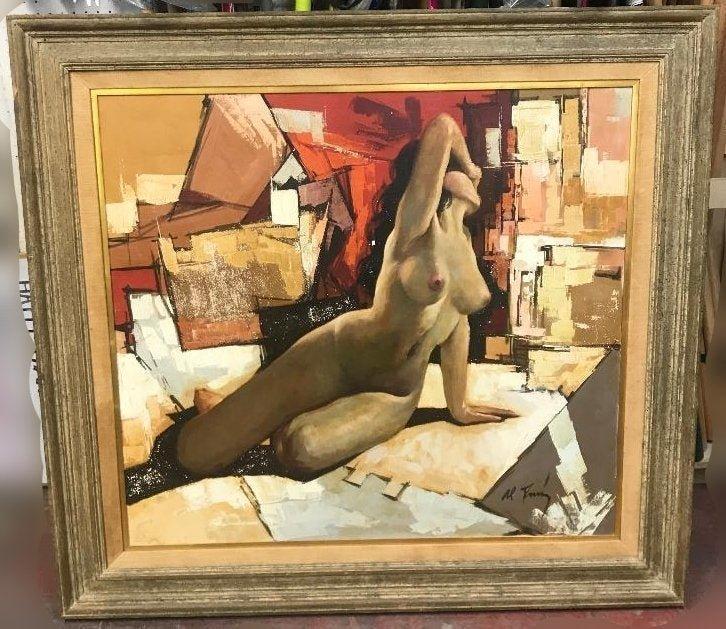 Alberto Ruiz Vela (Mexican 1920-2006 Oil Painting Nude