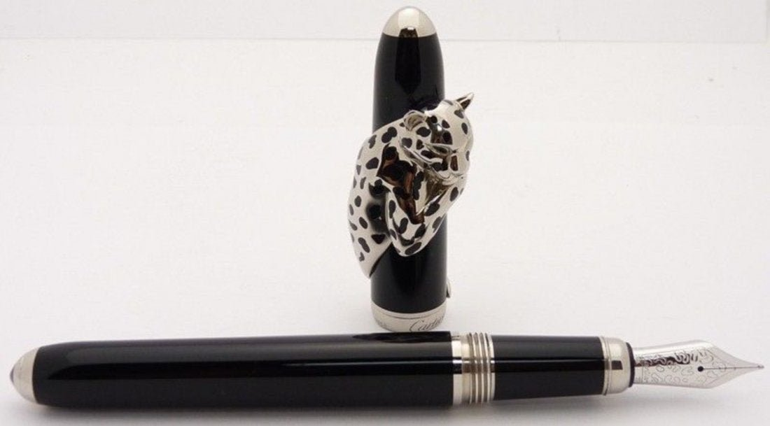 CARTIER PANTHER De Initiated Fountain Pen Gold Sterling