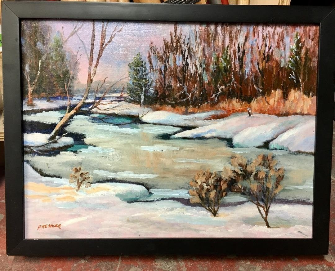 Allen Freshler (American, b.1940) Oil Canvas Painting