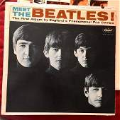 Meet THE BEATLES Record 1964 LP