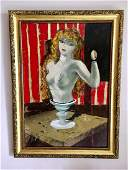 CHARLES LEVIER French 1920-2004 Nude Oil PICASSO Woman